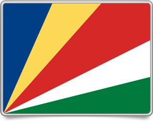 Seychellois framed flag icons with box shadow