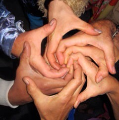 7 person galactic spiral... Feel the spiral vortexes of energy flowing through all things