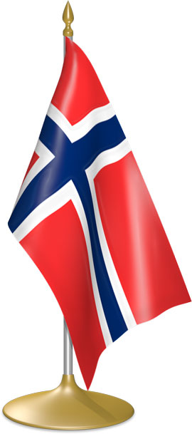 Norwegian table flags - desk flags