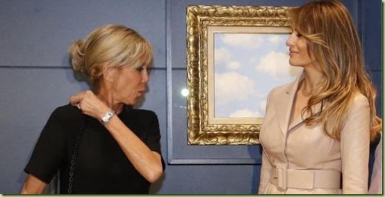 brigitte-macron-melania-trump-brussels magritte museum