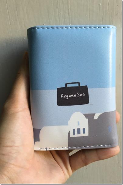 Aegean Sea X Santorini purse