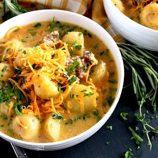 Italian Sausage and Potato Chowder.