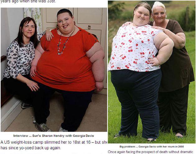 La adolescente más gorda pesa 254 kilos