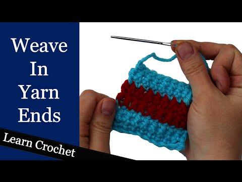 How To Weave In Loose Yarn Ends @ Crochet Treasures