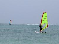 Teds first ocean windsurf - Zanzibar