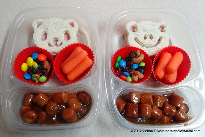 Preparando comida bonita para los nenes