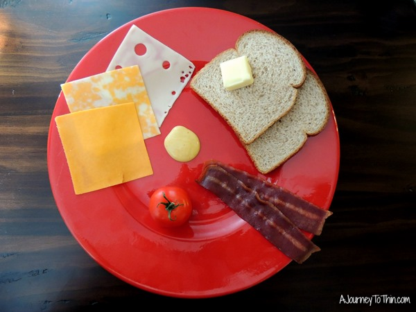 Grown up Grilled Cheese Ingredients