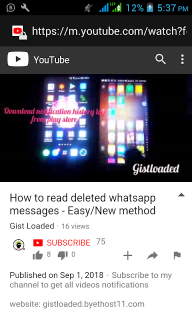 HOW TO READ DELETED WHATSAPP/ANY SOCIAL MEDIA MESSAGE