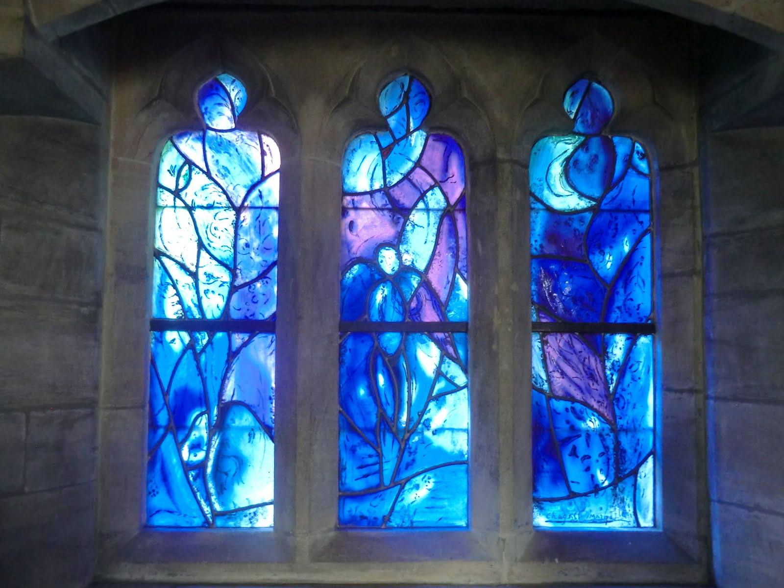 CIMG1561 Chagall window #3, All Saints church