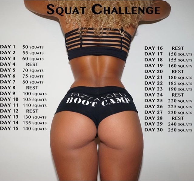 ... the Taz's Angel 30 day squat challenge! | Sharolyne's Sweets & Fitness