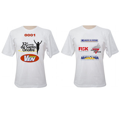 Camiseta oficial da corrida