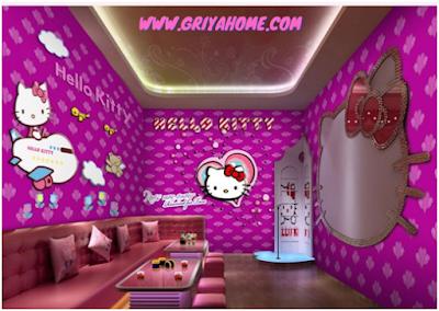 dekorasi rumah hello kitty minimalis
