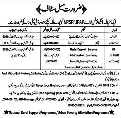 NRSP Microfinance Bank Limited Jobs