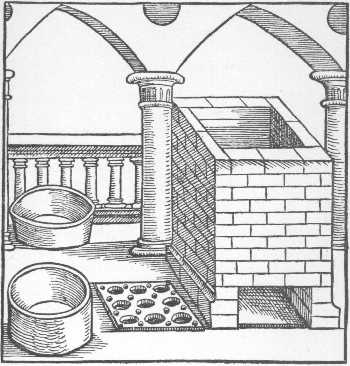 The Calcinatory Furnace Taken From Geber Works London 1678, Alchemical Apparatus