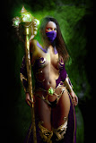 Fantasy Socceress With Magick Staff