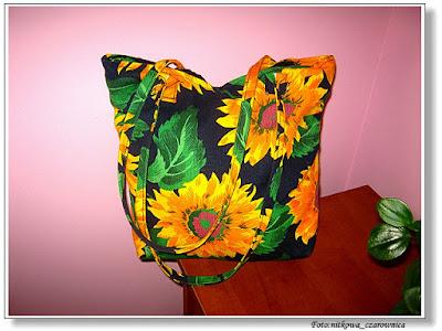 torebka w słoneczniki