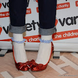 WWW.ENTSIMAGES.COM -   Maggie Dunne   show casing her Dorothy shoes at     The Wizard of Oz in IMAX 3D - charity film screening at The Empire Cinema London September 14th 2014Chairty film screening of classic film in aid of children's charity Variety.                                                 Photo Mobis Photos/OIC 0203 174 1069