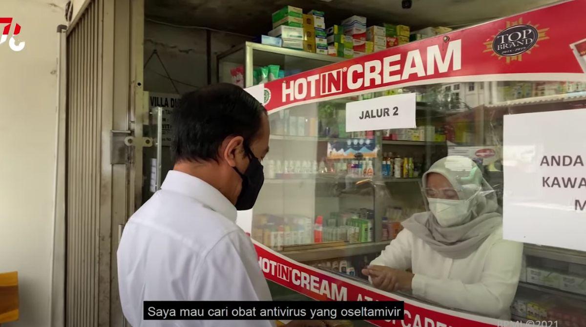 Usai Obat yang Dicarinya di Apotek Gak Ada, Jokowi Langsung Telepon Orang Ini