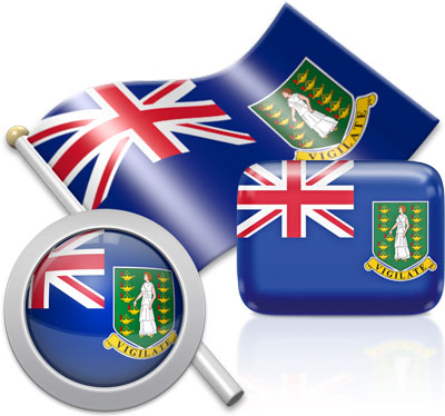 British Virgin Island  flag icons pictures collection