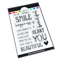 Smile Beautiful Sentiments Stamps