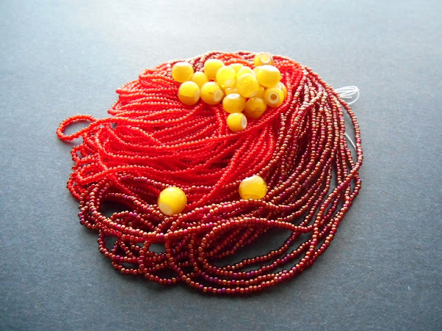 Red Fire Bead Color Idea