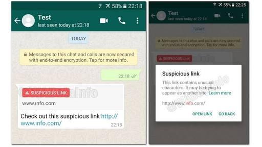 Suspicious Link Test--Credits: WebOTAInfo