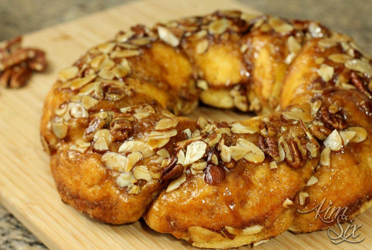 Cinnamon Nut Pull Apart Bread