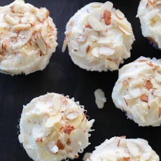 Fig Jam-Filled Almond Cupcakes.