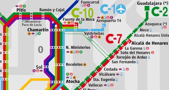 Todo el transporte público al aeropuerto de Madrid-Barajas.