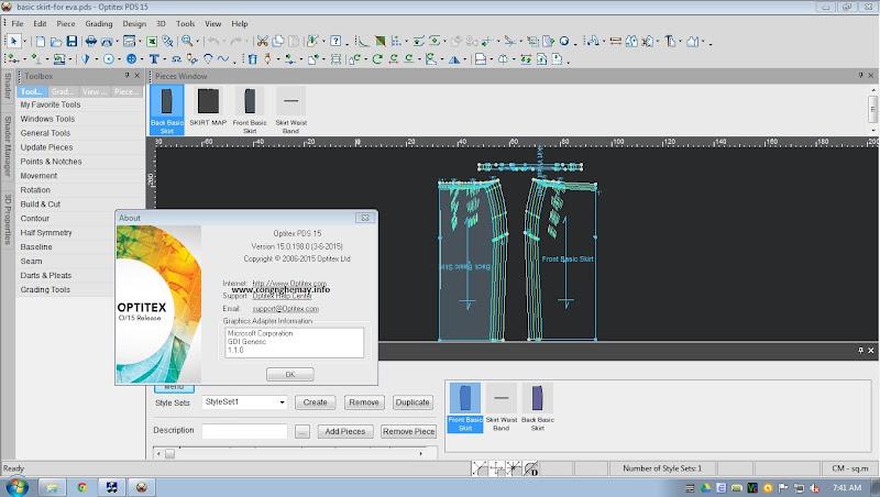 Miễn Phí License Optitex 15 Full Nesting++Pro Cho Nghiên Cứu Học Tập 3