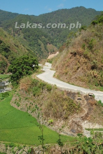 National Highway from Bontoc to Banaue