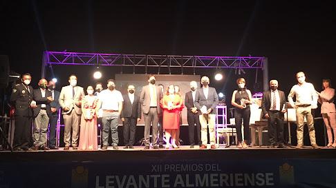 Foto de familia tras la gala celebrada en Pulpí.