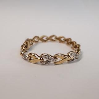 14K Yellow & White Gold and Diamond Bracelet