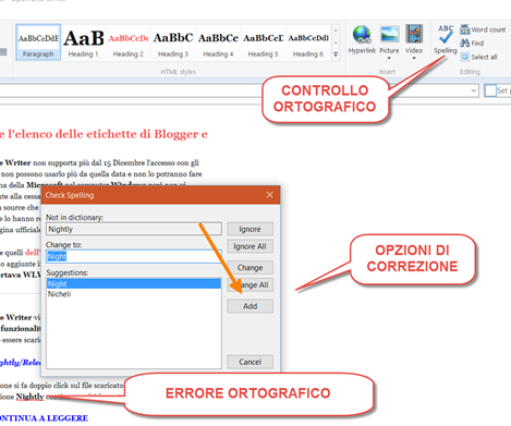 controllo-ortografico-open-live-writer