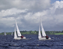 J/24s sailing upwind off Ireland