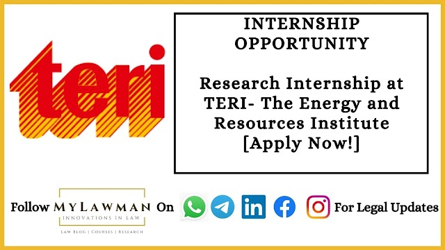 Research Internship at TERI- The Energy and Resources Institute [Apply Now!]