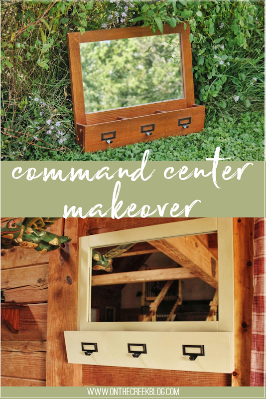 Command Center Makeover using Annie Sloan Chalk Paint® in Country Grey