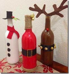 decorar botellas navidad todonavidad info (1)