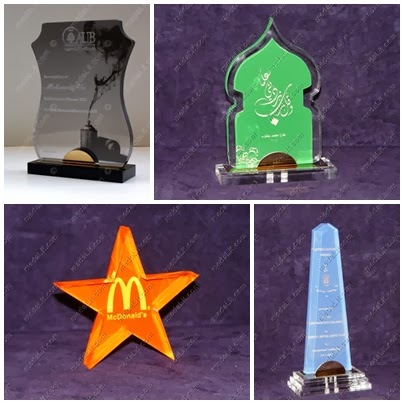 Colored Acrylic Trophies