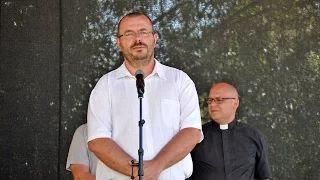 Mester Balázs polgármester - köszöntő - Falunap 2015.