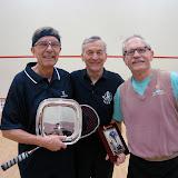 2012 Mature Event, Men's 65+: Dan Hogan (winner), Lew Holmes (tourney chair), and Wayne Hodges (runner up)