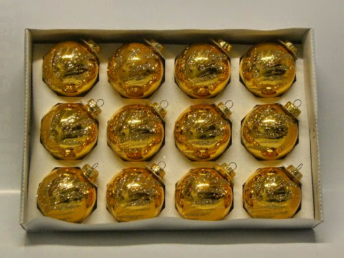 12er Set Christbaumkugeln Gold Glanzend Mit Glitter Glitzer Gold