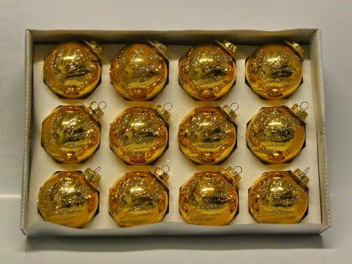 Christbaumkugeln Perlmutt.12er Set Christbaumkugeln Gold Glänzend Mit Glitter Glitzer Gold