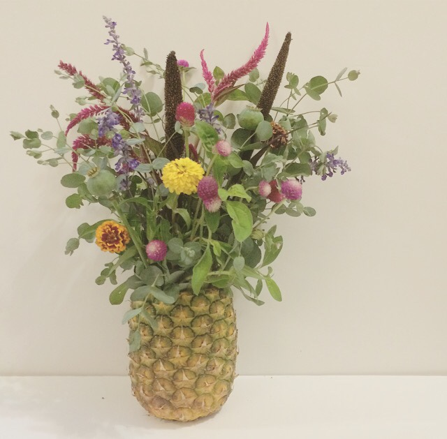 Twins In The Cities Pineapple Floral Arrangement