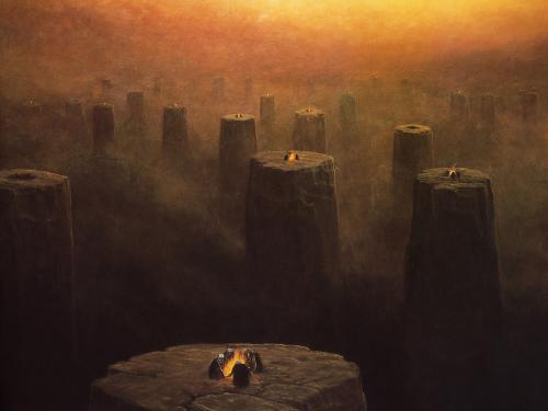 Zdzislaw Beksinski Candles, Death