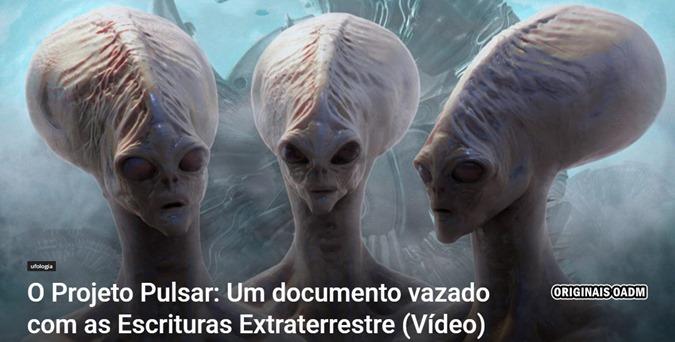 O Projeto Pulsar Um documento vazado com as Escrituras Extraterrestre