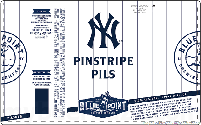 Blue Point - Pinstripe Pils 16oz Cans (Yankees)
