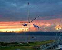 Flot himmel og flags