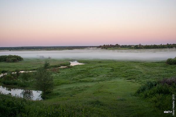 Ось так виглядає долина річки Стир перед світанком