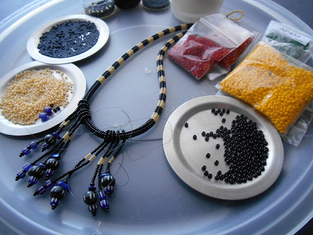 Striped Necklaces in Progress